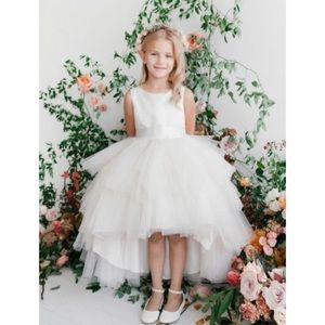 Satin & Tulle High Low Dress